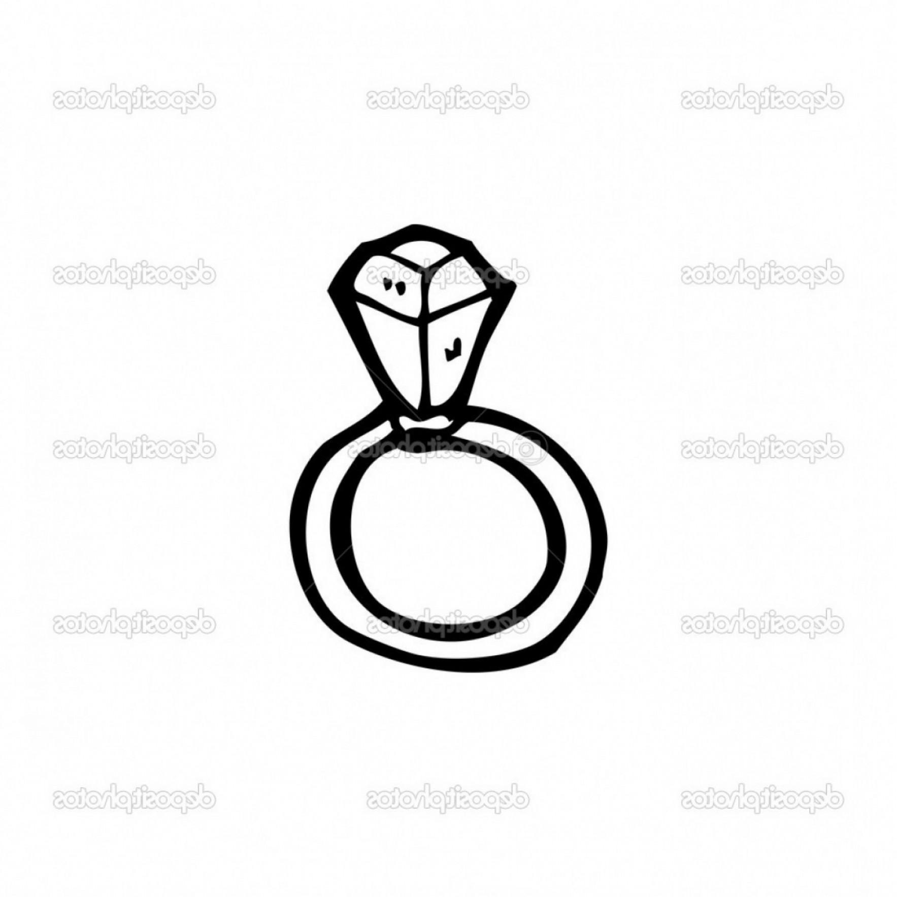 1767x1767 Diamond Ring Vector Engagement Ring Cartoon Stock Vector