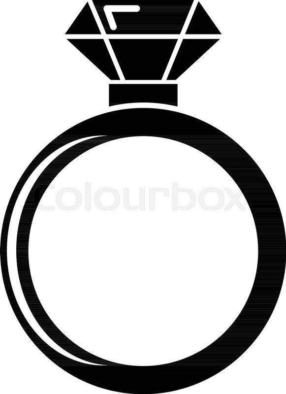 581x800 Diamond Engagement Ring Icon . Simple Illustration Of Diamond