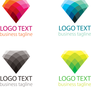 300x288 Colorful Diamond Shape Logo Vector (.eps) Free Download