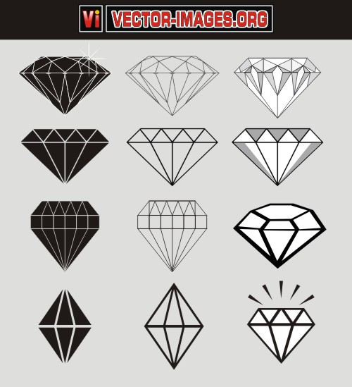 500x549 12 Diamond Vector Free Download Images