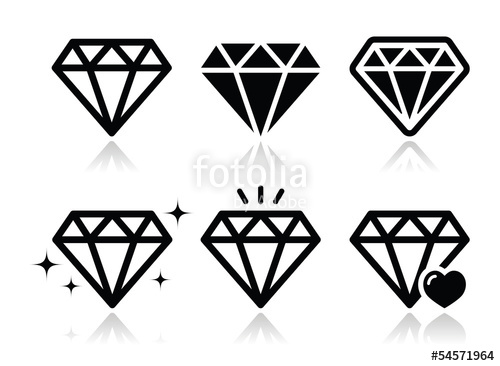 500x366 Diamond Vector Icons Set Stock Image And Royalty Free Vector
