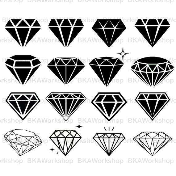 570x570 Diamond Svg Diamond Vector Diamond Silhouette Diamond Etsy