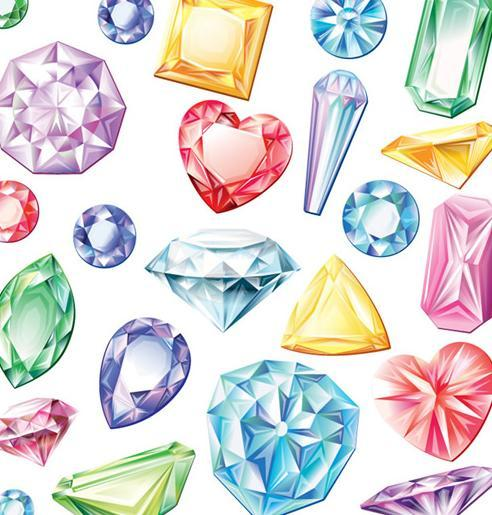 492x515 Colorful Shaped Diamond Vector Free Download Eps Files