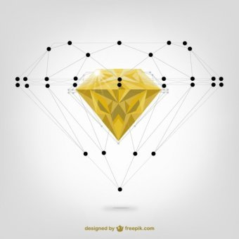 340x340 Diamond Vector Art 123freevectors