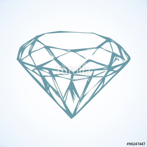 500x500 Diamond. Vector Sketch Stock Image And Royalty Free Vector Files