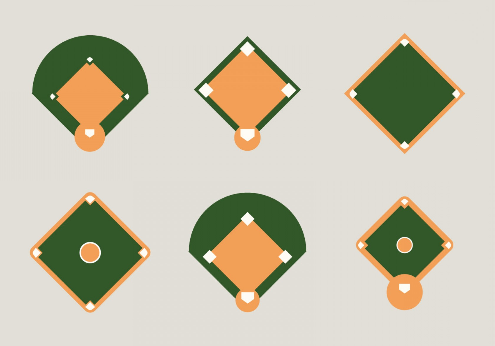 1680x1176 Free Baseball Diamond Vector Illustration Rongholland