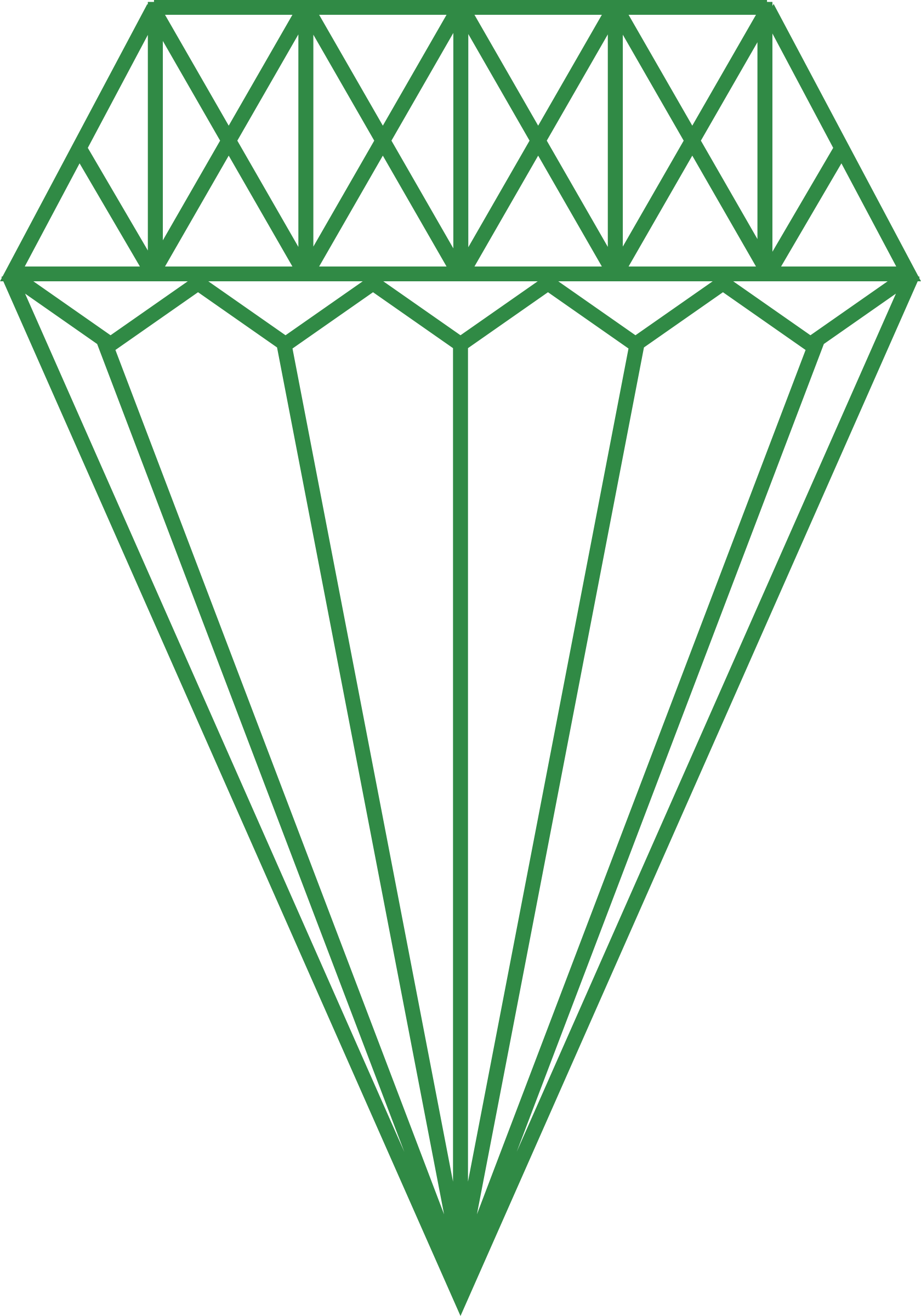 1680x2400 Green Diamond Vector Clipart Image