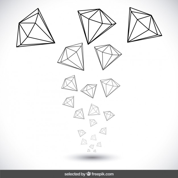 626x626 Hand Drawn Diamonds Vector Free Download