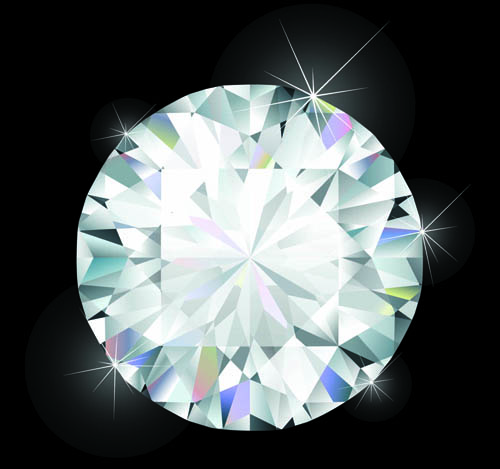 500x469 Shiny Diamond Vector Design 01 Free Download