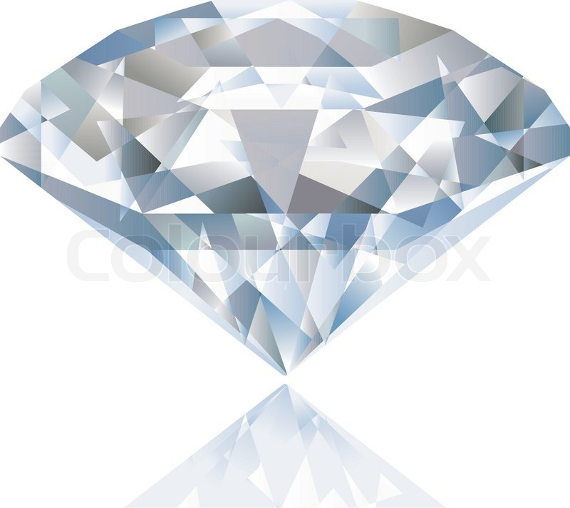 800x712 A Shiny Bright Diamond. Vector Stock Vector Colourbox
