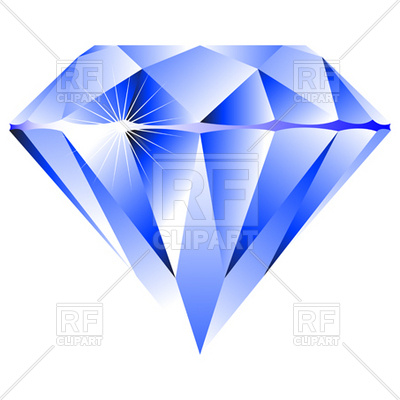 400x400 Blue Diamond Vector Image Vector Artwork Of Beauty, Fashion
