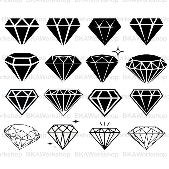 642x642 Diamond Svg Diamond Vector Diamond Silhouette Diamond Etsy