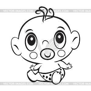 300x300 Funny Baby Boy. Cute Baby Boy Sitting In Diaper