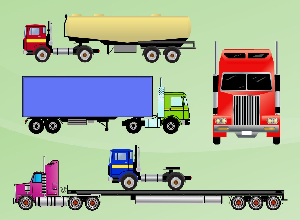 1024x750 Semi Trucks Cartoons Perfect 7 Cartoon Pickup Truck Vector Diesel