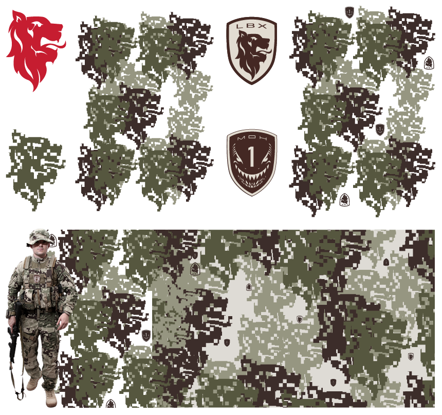 Digital Camo Vector Art