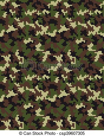 360x470 Fashion Camouflage Pattern 2. Seamless Digital Fashion Camouflage