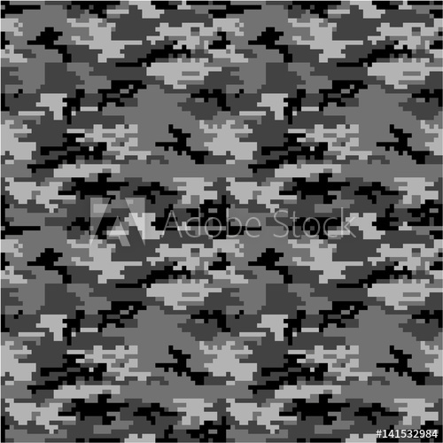 500x500 Army Or Military Special Forces Digital Camouflage Seamless Vector