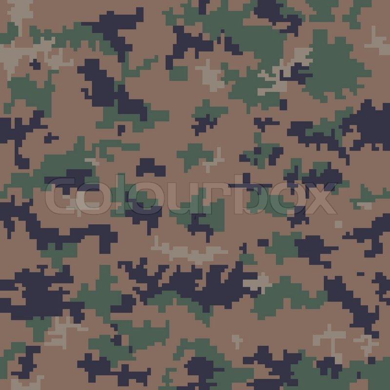 800x800 Seamless Digital Camouflage Pattern Stock Vector Colourbox