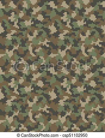360x470 Seamless Of Digital Camouflage Of Fashion Pattern.