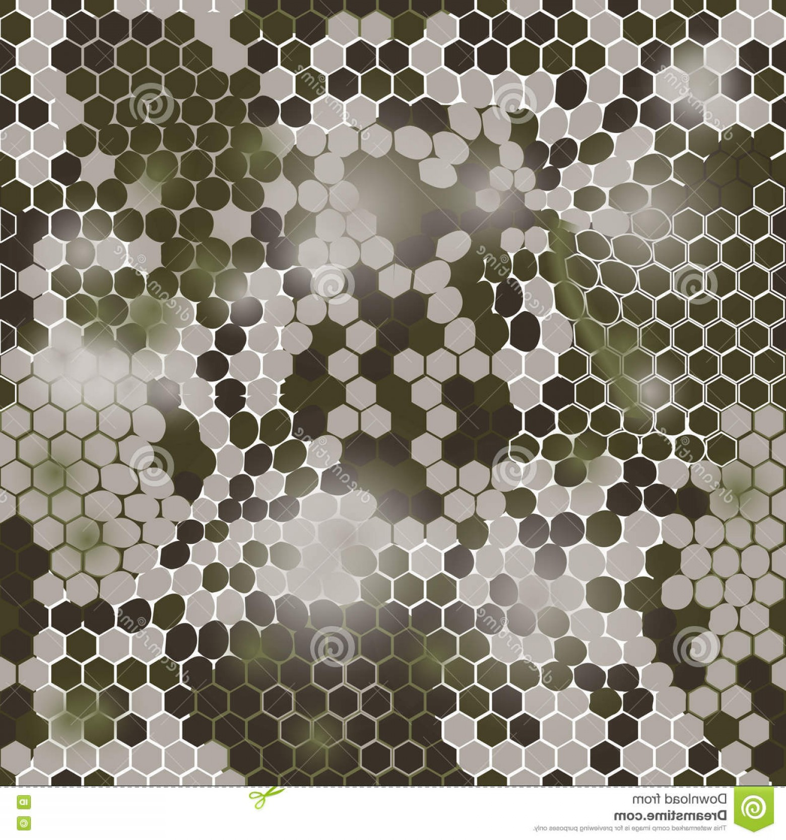 1560x1668 Stock Illustration Hexagonal Camouflage Pattern Vector Digital
