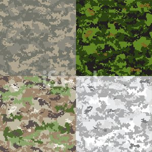 299x299 Digital Camouflage Vector Pattern Stock Vectors