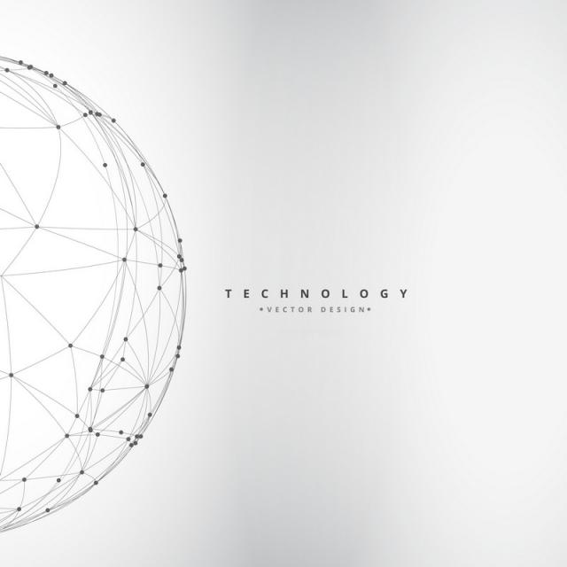 640x640 Digital Sphere Made With Lines Mesh Vector Design Illustration