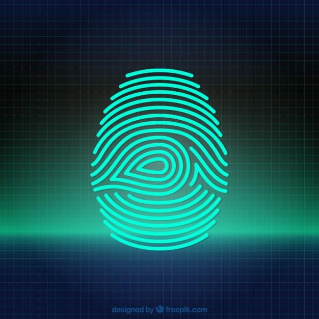 626x626 Digital Fingerprint Vector Free Download