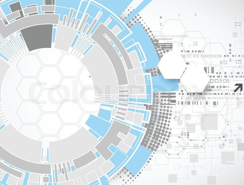 800x608 Technology Futuristic Digital Background. Vector Illustration