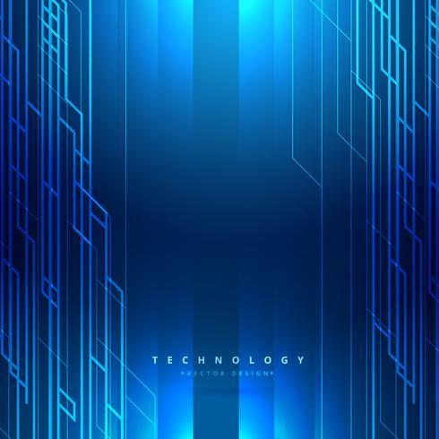 490x490 Technology Digital Blue Background Vector Design Illustration