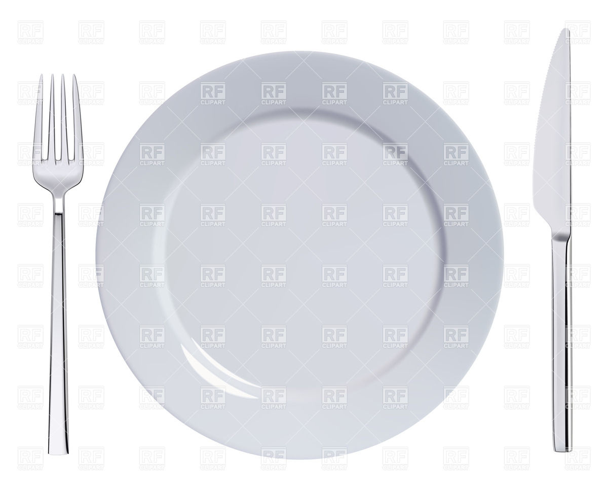 1200x960 Dinner Plate, Knife And Fork Vector Image Vector Artwork Of Food
