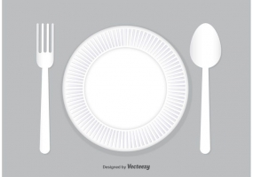 285x200 Dinner Plate Spoon Fork Free Vector Graphic Art Free Download