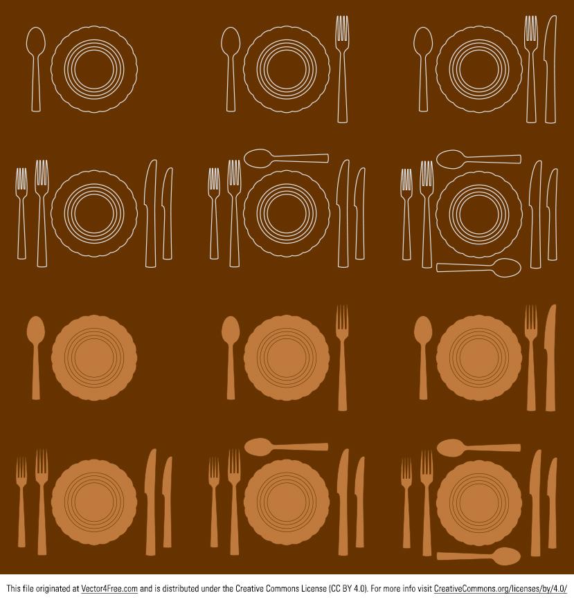 829x870 Free Vector Dinner Plate Settings
