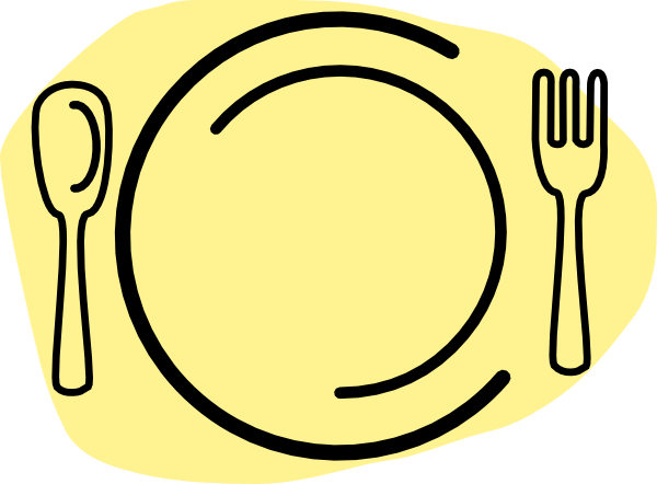 600x442 Iammisc Dinner Plate With Spoon And Fork Clip Art Free Vector
