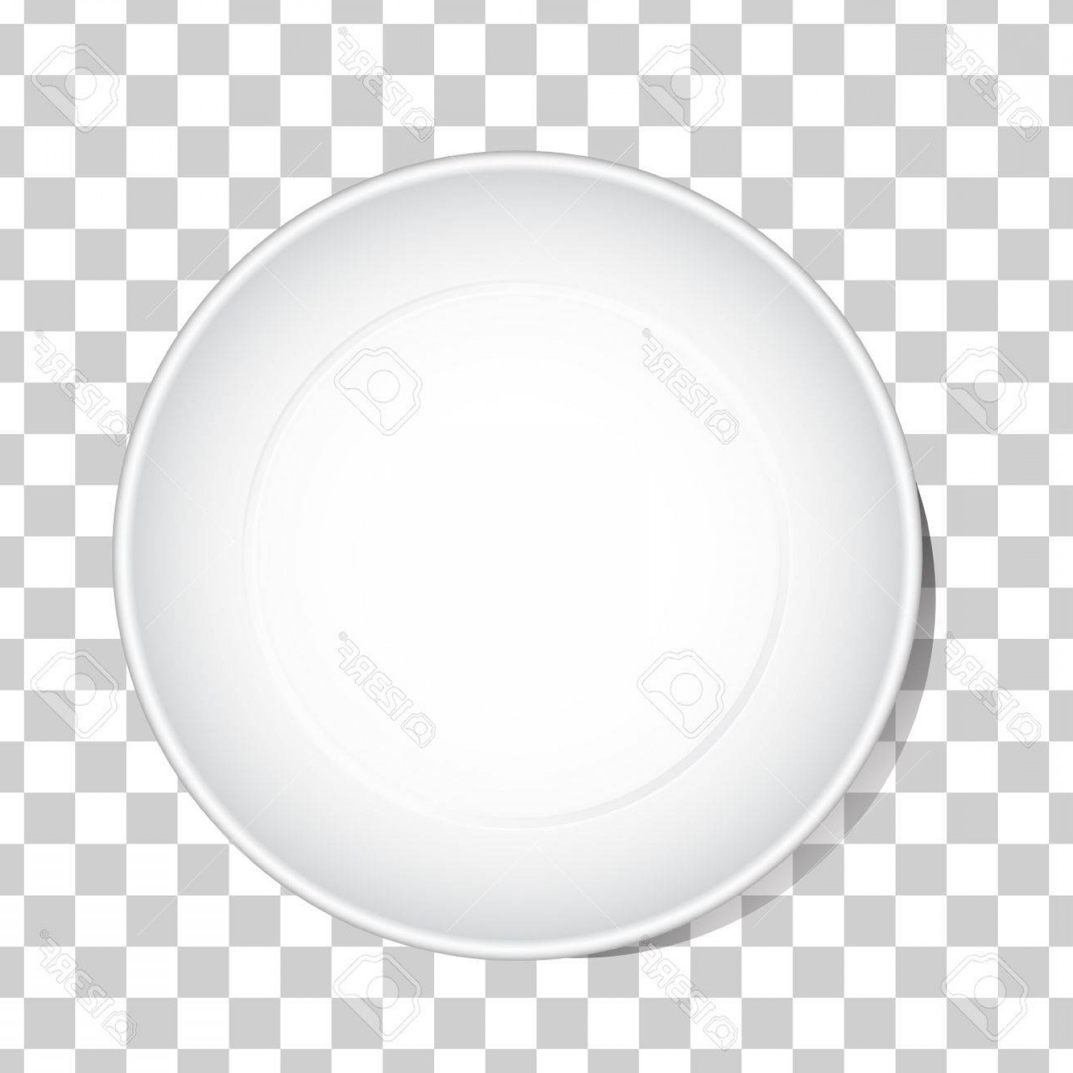 1560x1560 Photostock Vector Empty White Dish Plate Background Vector Round