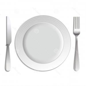300x300 Crossed Fork And Knife On Plate Vector Clipart Rongholland