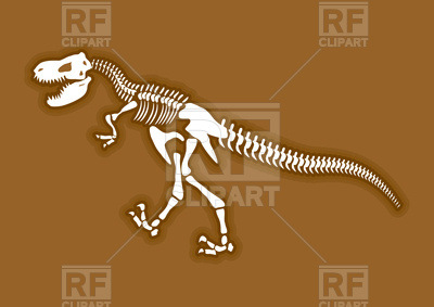 400x283 Dinosaur Skeleton Vector Image Vector Artwork Of Icons And