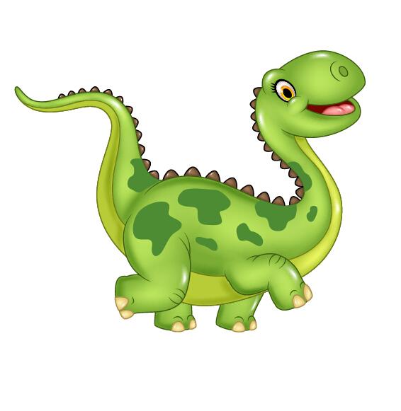 566x581 Cute Cartoon Dinosaur Vector Material 02 Free Download
