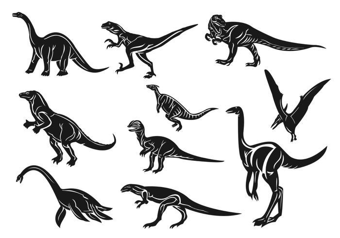 700x490 Dinosaur Vector Pack