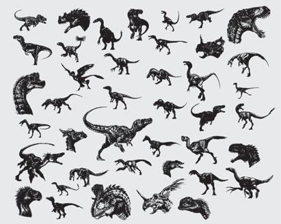 411x328 Dinosaurs Vector Illustration Pack