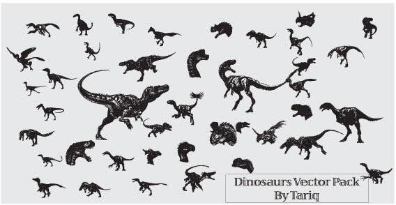 568x294 Animals Dinosaurs Free Vector 2 Free Vector In Acrobat Reader Pdf