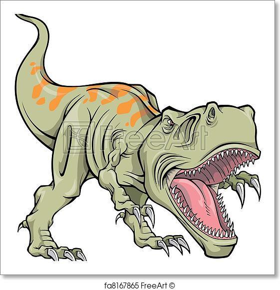 561x581 Free Art Print Of Tyrannosaurus Dinosaur Vector . Tyrannosaurus