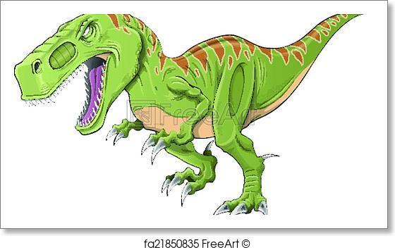 560x355 Free Art Print Of Tyrannosaurus Dinosaur Vector Art. Tyrannosaurus