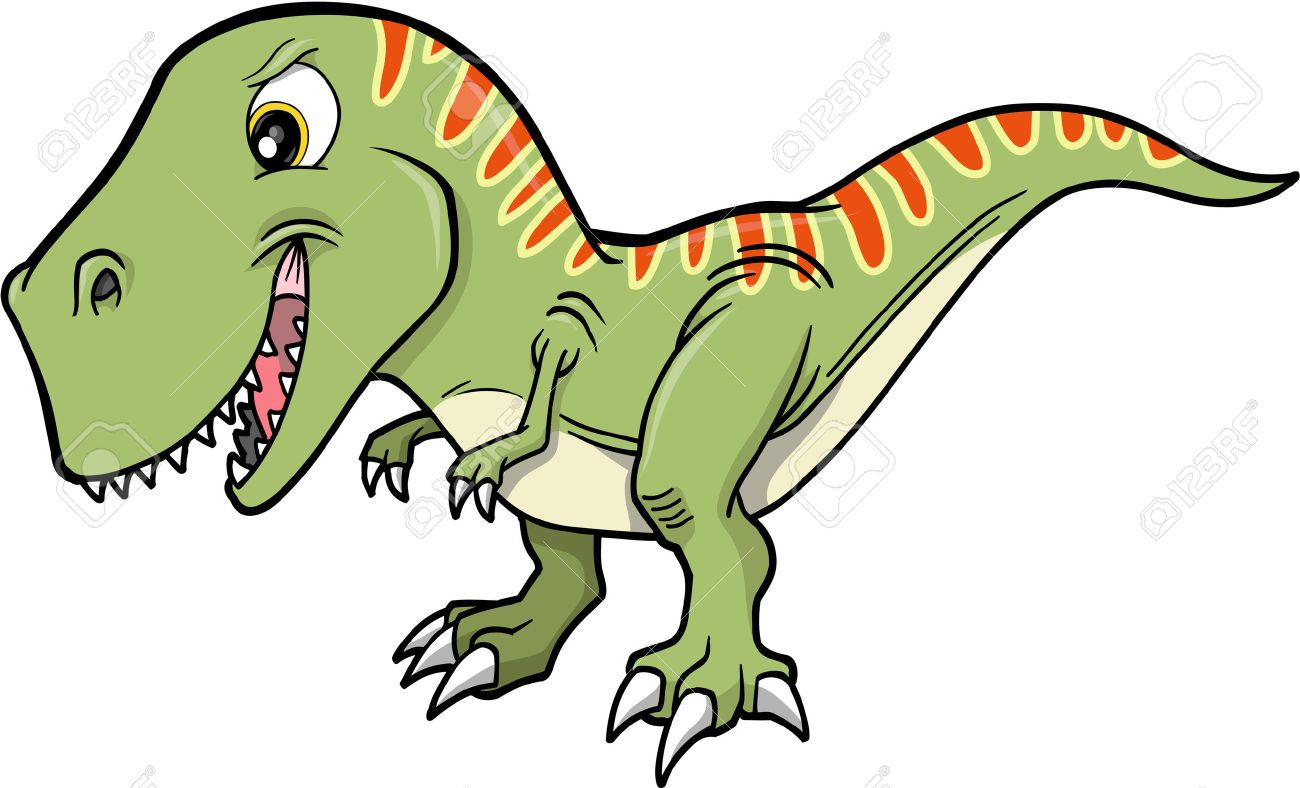 1300x788 T Rex Dinosaur Vector Illustration Toddler Homeschool Projects