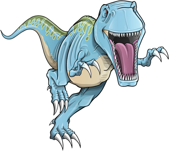 700x627 Tyrannosaurus Rex Dinosaur Vector Illustration Wall Mural Pixers