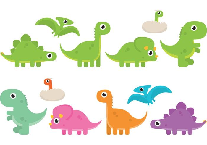 700x490 Cartoon Dinosaur Vectors