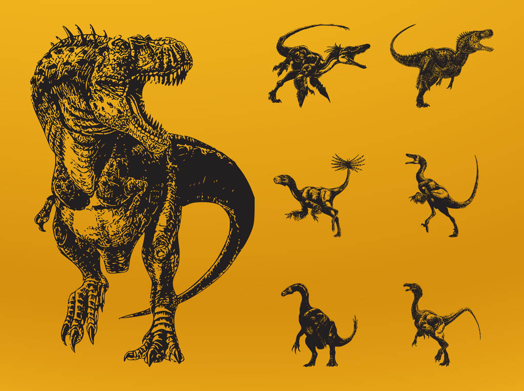 1024x765 Angry Dinosaurs Vector Art Amp Graphics