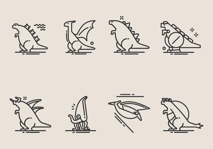 700x490 Dinosaur Vector Icons