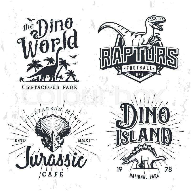 800x800 Dinosaur Vector Logo Set. Triceratops T Shirt Illustration Concept