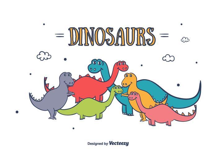 700x490 Dinosaurs Vector
