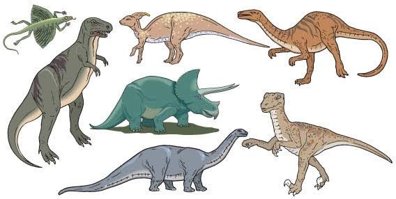 568x286 Dinosaurs Vector Free Vector In Coreldraw Cdr ( .cdr ) Vector
